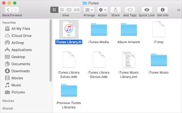 replace itunes library