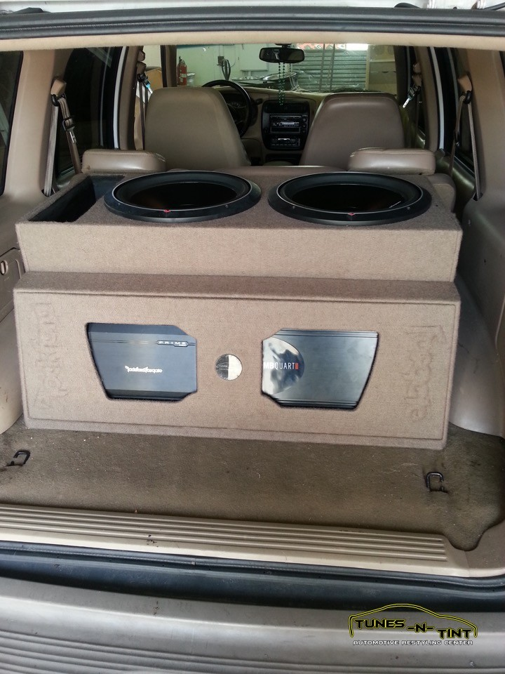 2002 Ford Explorer Custom Sub Enclosure Tunes N Tint