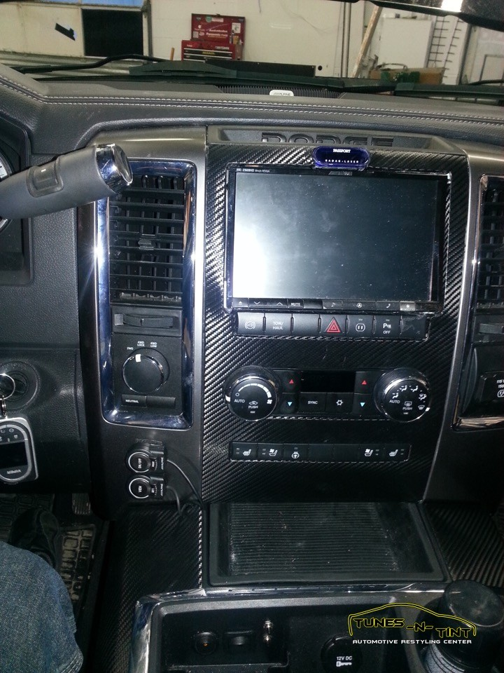 2013 Dodge Ram 9in Custom Double Din Tunes N Tint