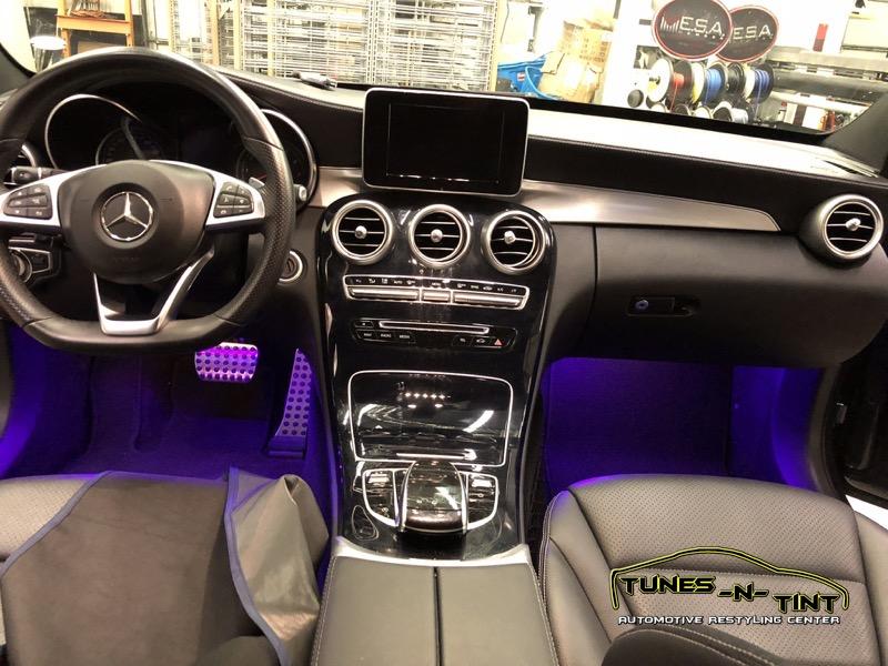 Mercedes C300 Interior Lighting 2 Tunes N Tint