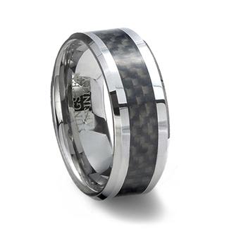 Tungsten Carbide Ring Amp Black Carbon Fiber Inlay