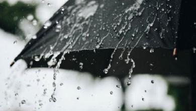 رياح قوية وأمطار رعدية في هذه المناطق