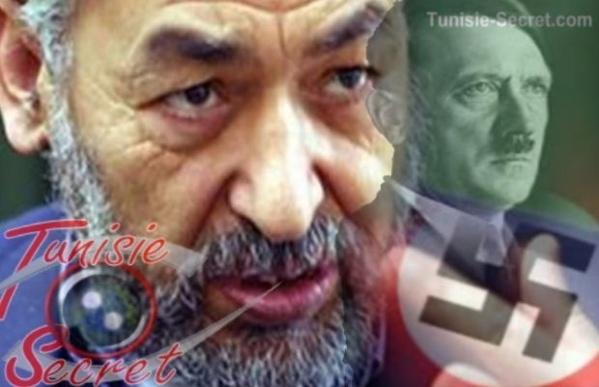 Le terroriste Rached Ghannouchi, l'homme qui se rêve en Adolph Hitler.