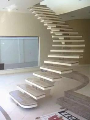 escalier curve mono portique