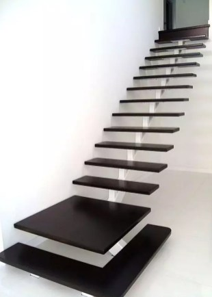 escalier flottant noir absolut