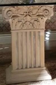 porte Vase Capital Imperial sculpté