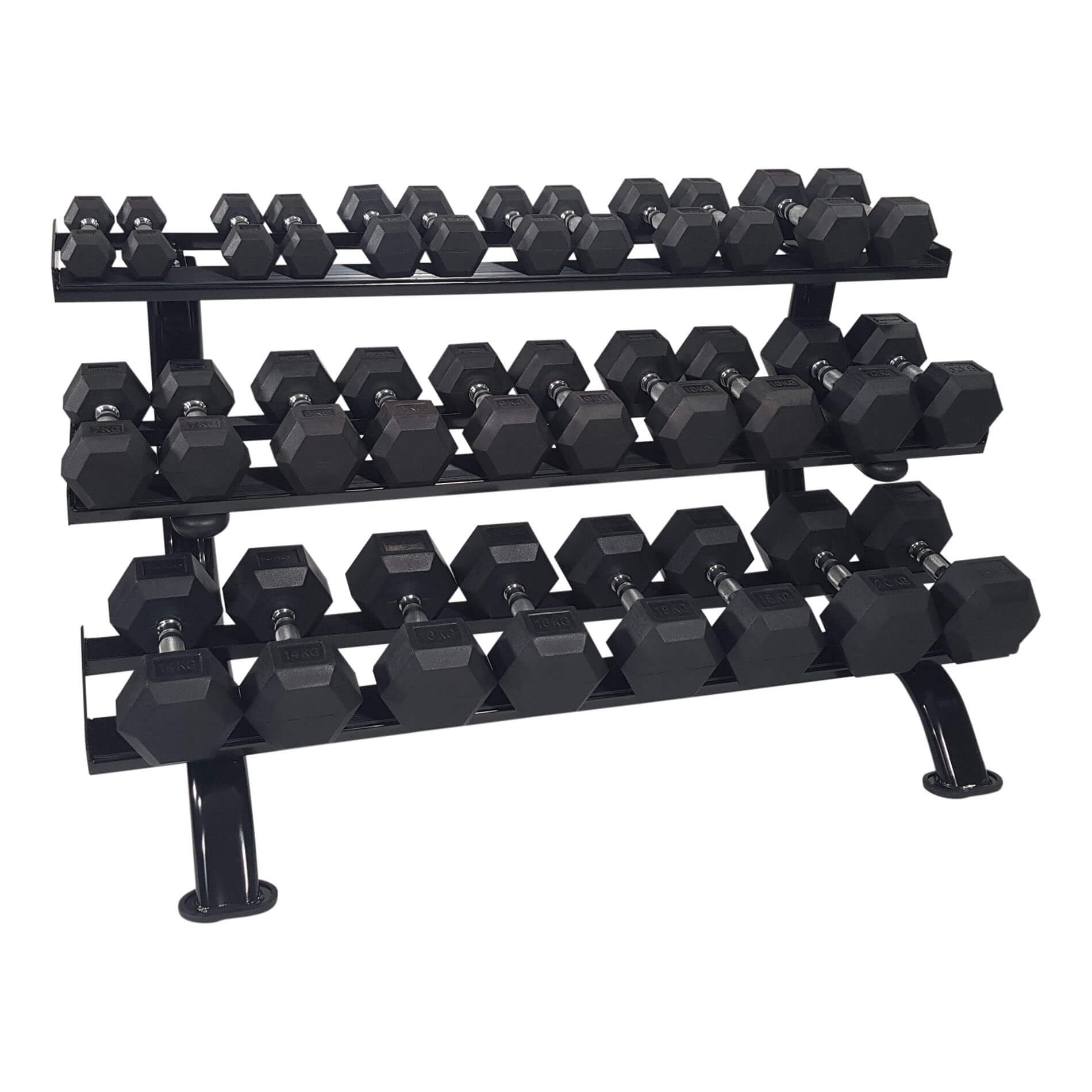 tunturi dumbbell rack prof 3 levels