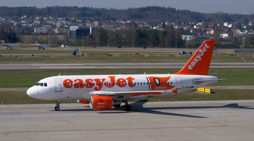 Un avión de la aerolínea Easyjet