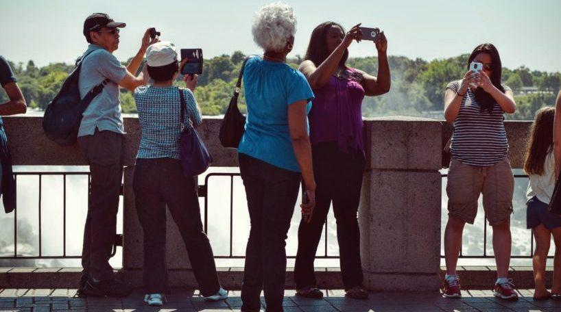 Caída turistas