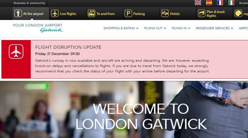 El Aeropuerto de Londres-Gatwick reabre sus puertas