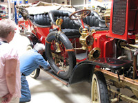Jay working on 1907 White Steamer