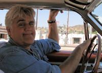 Jay behind the wheel of the Chrysler Turbine car.