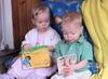 Zach and Rissa reading.