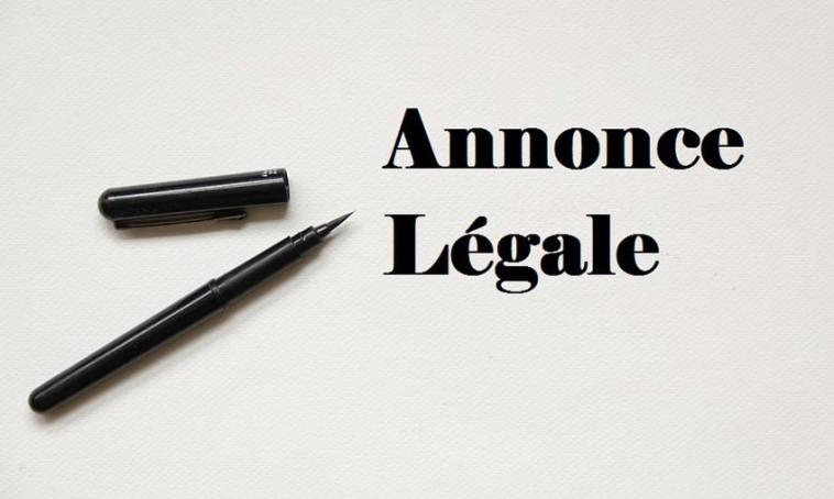 annonce légale