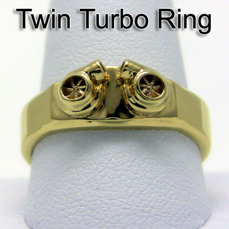Mens Twin Turbo Ring