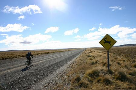 mountain bike in patagonia bicicletta