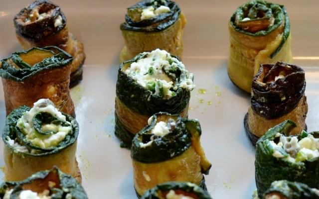 PEYNİR DOLGULU KABAK RULO, czyli cukinia faszerowana serem