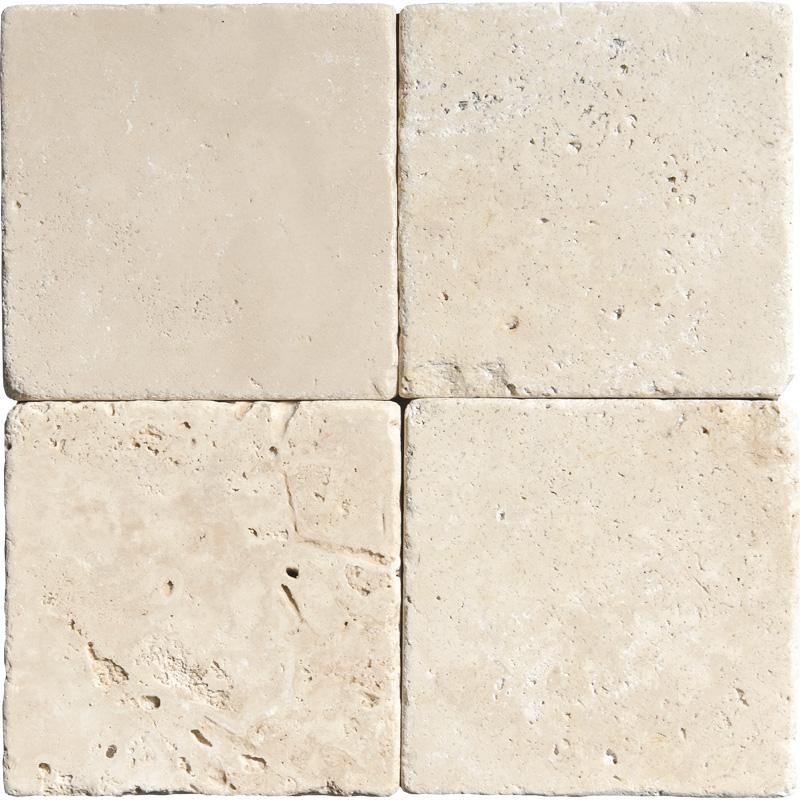 Ivory Tumbled Travertine Tiles 10x10 Tureks