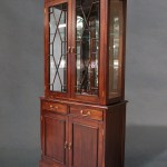 Solid Mahogany Timber 2 Doors Bookcase Display Cabinet