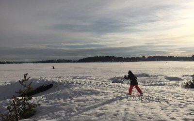 På telttur med barn over isen