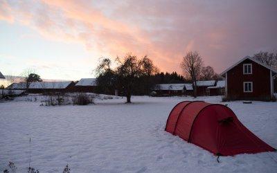 Første vintertur i telt med barn!