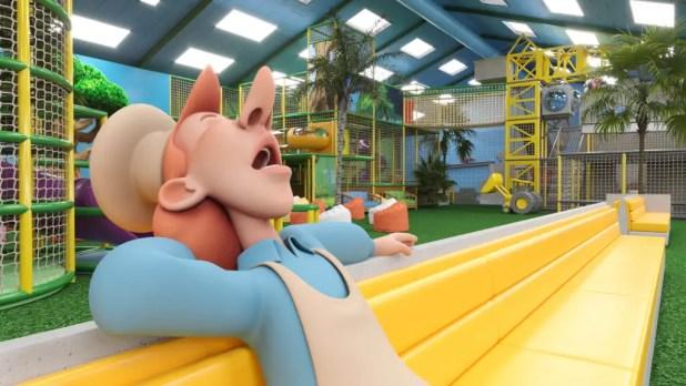 Det nye Zik & Zak's Abeland får til huse til legehallen, der bygges om for godt seks millioner kroner. Ombygningen står færdig, når Jesperhus åbner for sæsonen igen til påske næste år. (Pr-foto)