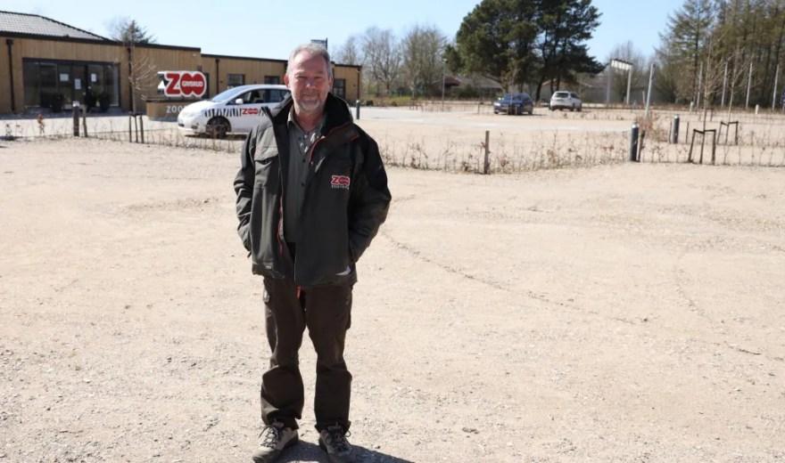Direktør i Givskud Zoo - Zootopia, Richard Østerballe, efterlyser økonomisk hjælp. Parken står i sin største økonomiske krise nogensinde. (Pr-foto)