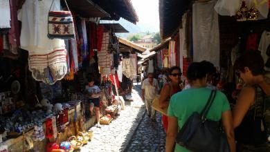 Bazaar di Kruja
