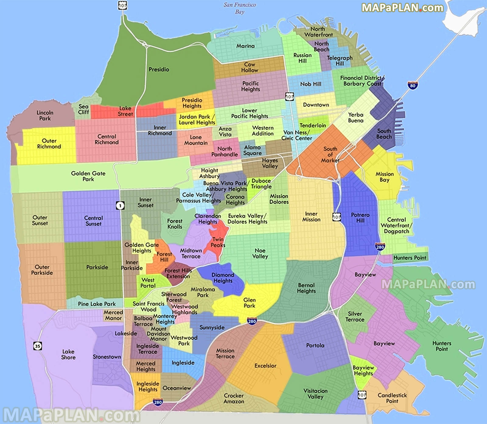 California De Usa El Mapa
