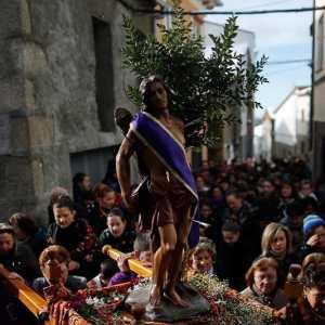 Procesión de San Sebastián con el Jarramplas