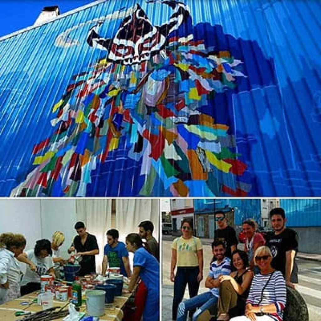 Jarramplas de Piornal en el Valle del Jerte muros artísticos rincones de color