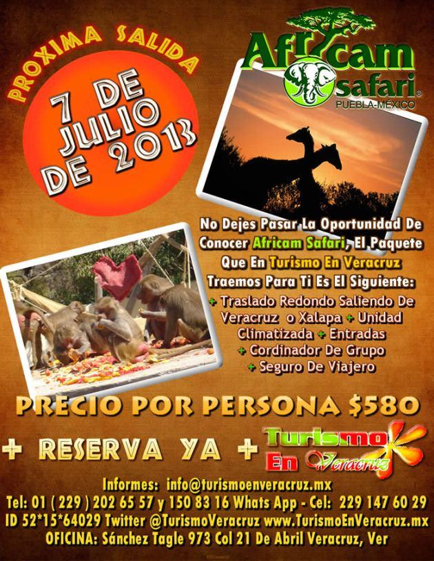Vamos a Africam Safari Este 7 De Julio 2013 Saliendo De Veracruz y Xalapa