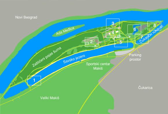 Mappa Ada Ciganlija