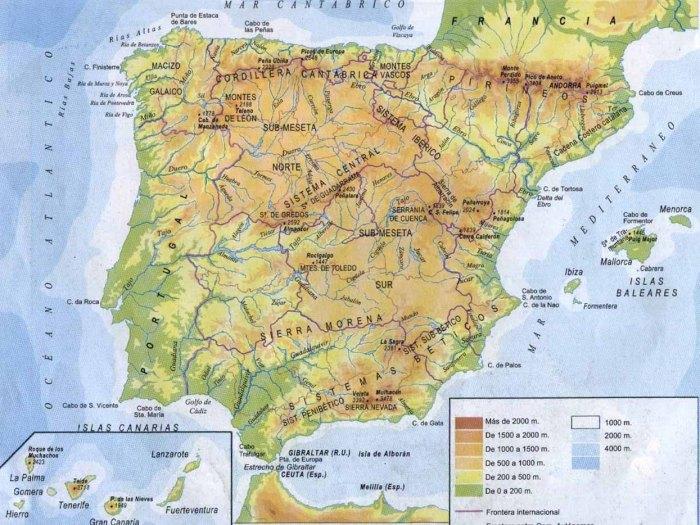 Mapa Fisico de España