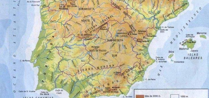 Mapa Fisico de España 1