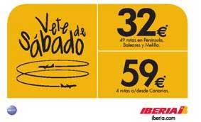"""""""Vete de sábado"""" con Iberia"""