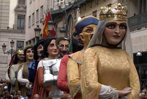 Comparsa de gigantes y cabezudos de Zaragoza