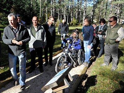 """""""Senderos para todos"""", accesibilidad para discapacitados en dos senderos de Huesca"""