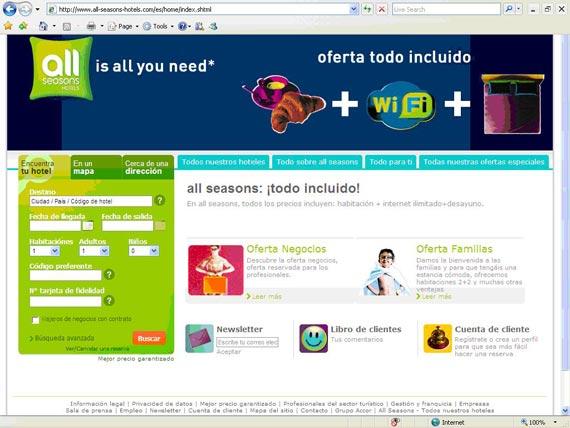 All seasons lanza su web en español
