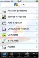 Iberia.com es accesible desde el iPhone y iPod Touch
