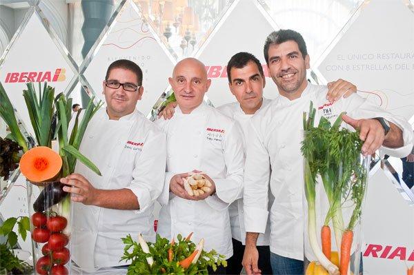 Toño Perez Junto a los chefs Paco Roncero, Ramón Freixa y Dani García
