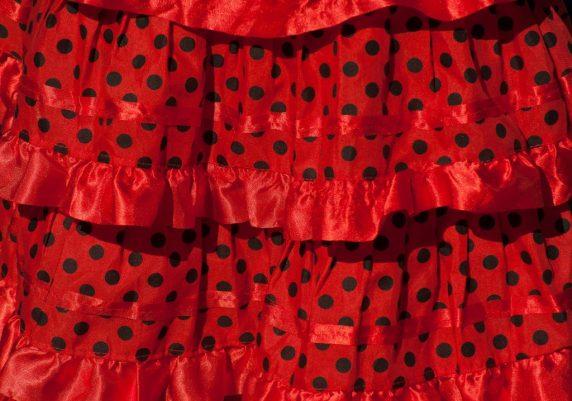 lunares de vestido flamenco