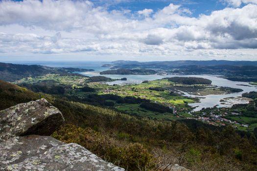 Ortigueira-Mera Ría de Ortigueira desde la sierra de A Capelada
