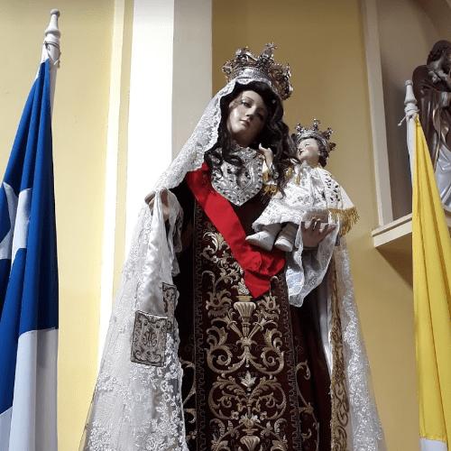 La imagen de Nuestra Señora del Monte Carmelo más antigua de Chile, 1642. Iglesia de San Agustín, Concepción.