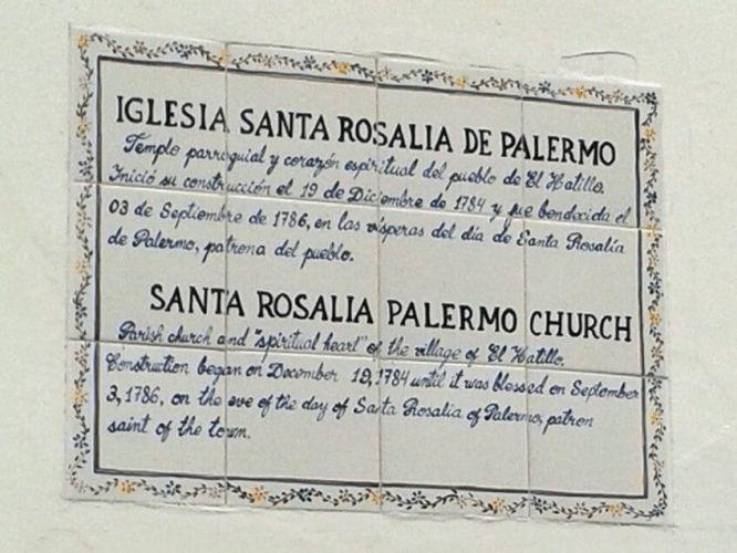 placa en la iglesia santa rosalia caracas venezuela