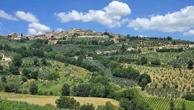 Vista de Montefalco en Perugia italia