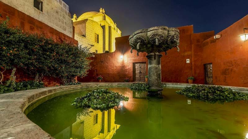 una fuente enMonasterio de Santa Catalina