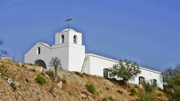 """chilecito Su construcción sobre un cerro, junto con la de la hacienda de 1640, recibió el nombre de """"Alto de la Iglesia"""" en la localidad de Sañogasta."""