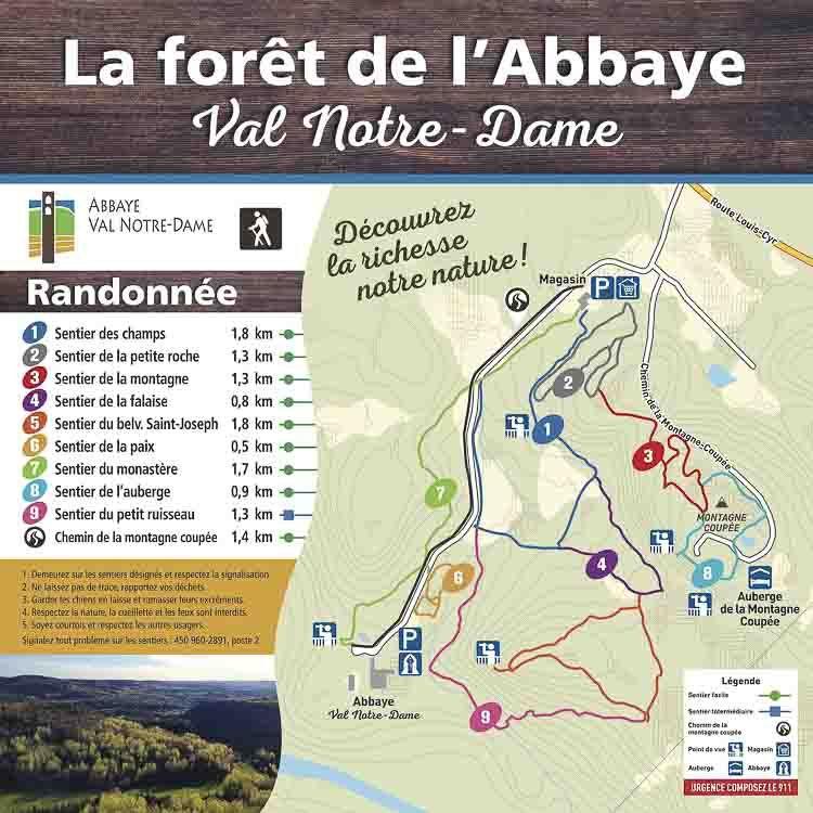 Folleto Abbaye Val-Notre-Dame Compostelas de Quebec