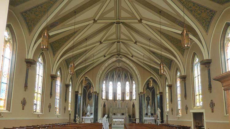 Detalle del presbiterio en St. Patrick - Credito: Andrés Mentock - South Bend